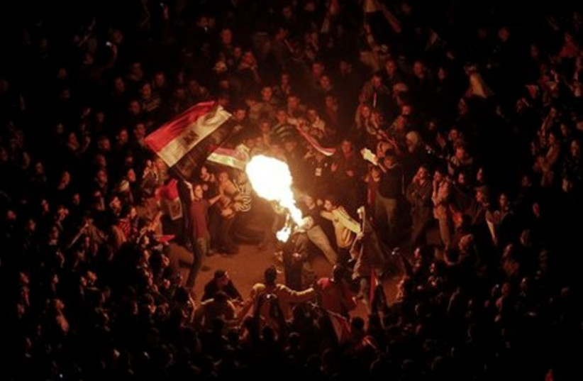 Firebreathing in Tahrir Square