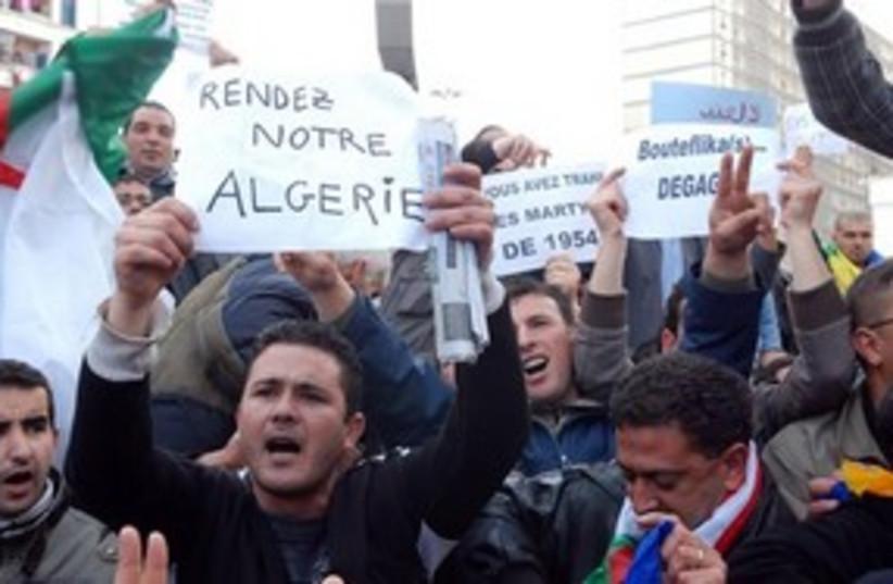 Algeria protests 311 (photo credit: AP Photo/Sidali Djarboub)