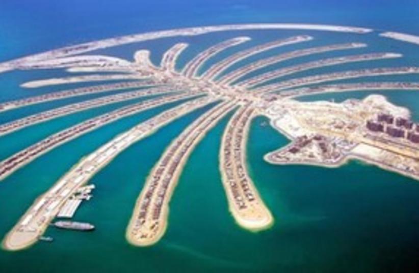 Dubai UAE palm tree island 311 AP (photo credit: AP)