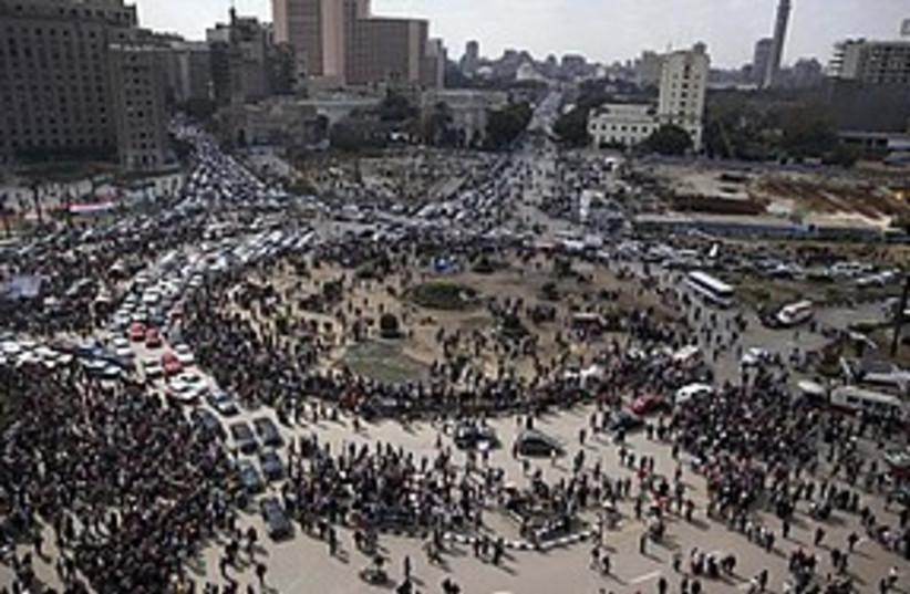 Tahrir square traffic 311 AP (photo credit: Associated Press)