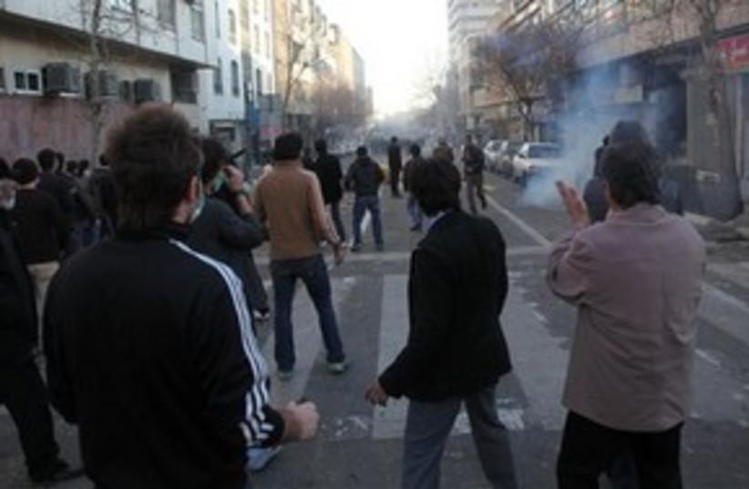 iran protests 311 (photo credit: AP)