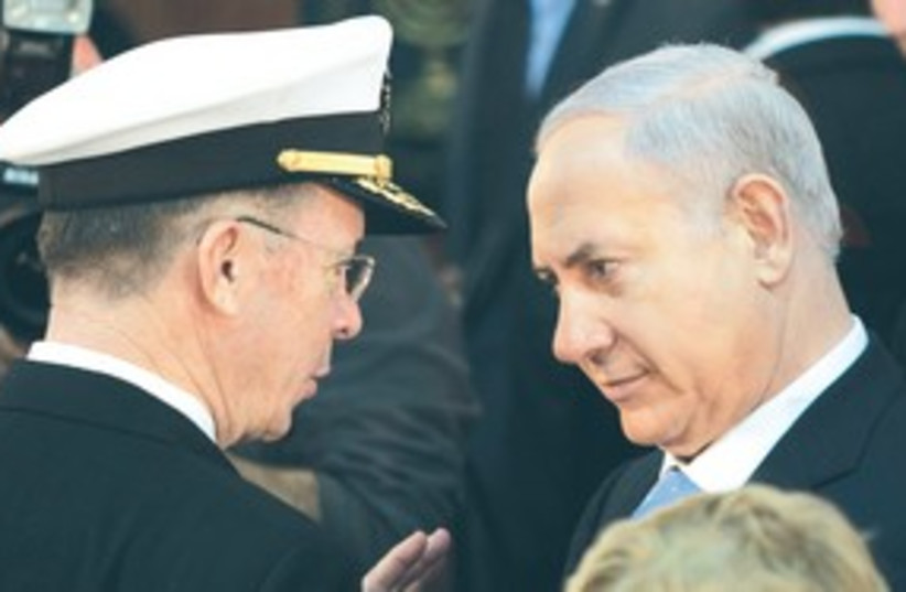 Mullen and Netanyahu (photo credit: ASSOCIATED PRESS)