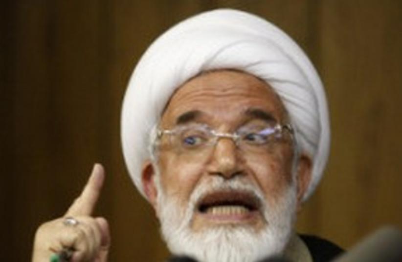 Iranian oppostion leader Mahdi Karroubi 311 AP (photo credit: AP)