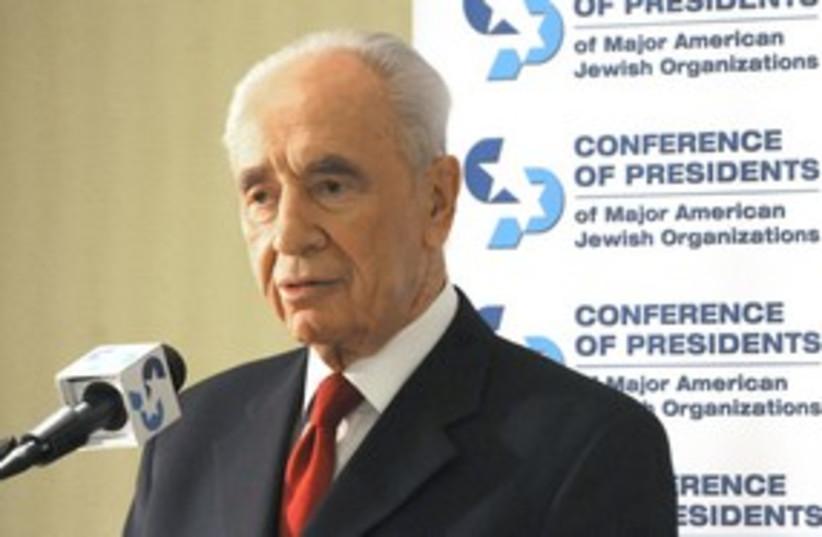 President Shimon Peres Conference of Presidents [file] 311 (photo credit: Moshe Milner / GPO)