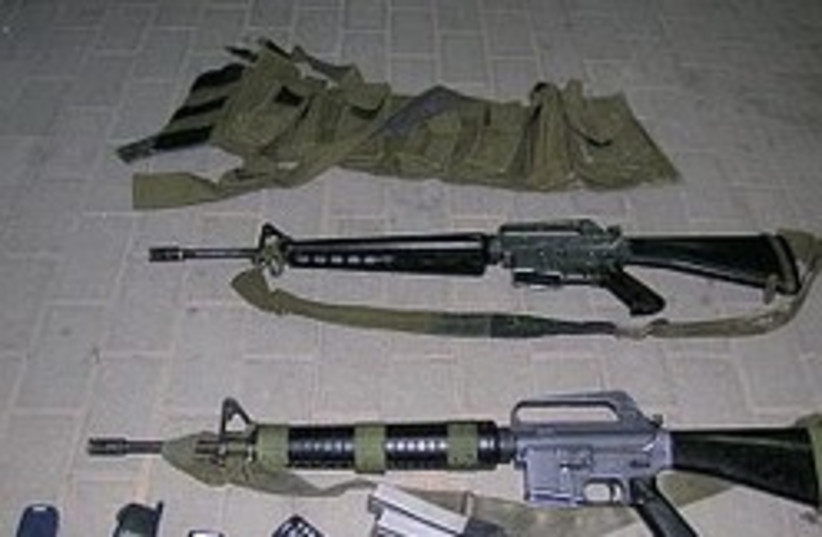 M-16 rifles were also stolen from the base [illust (photo credit: Photo: IDF [file])