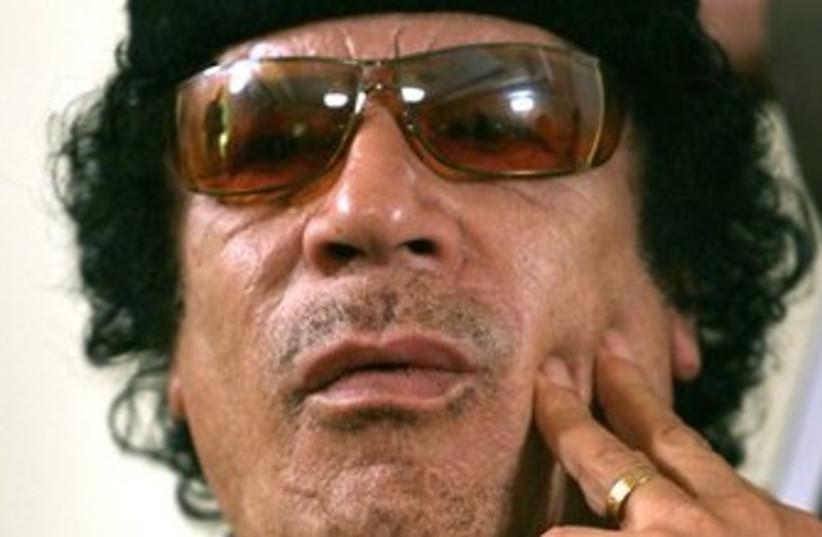 Gadhafi (photo credit: ASSOCIATED PRESS)