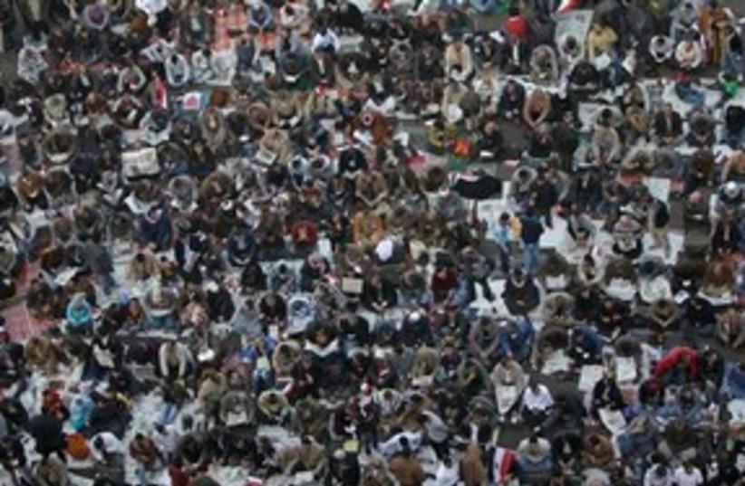 Mubarak Fall Celebration 311 (photo credit: Associated Press)