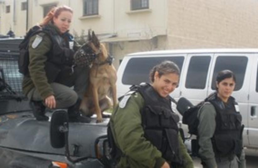 Border Police women 311 (photo credit: Yaakov Lappin)