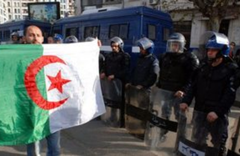 Algeria protests 311 (photo credit: Associated Press)