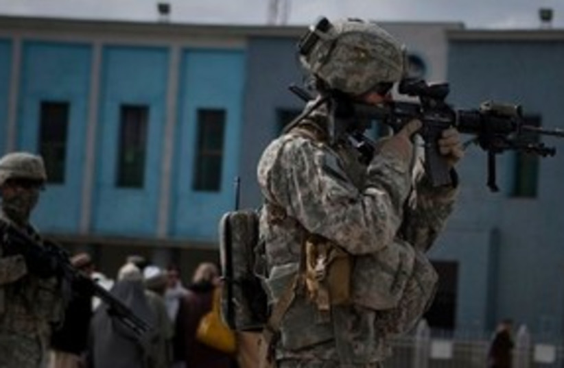 US soldier in Kandahar 311 (photo credit: ASSOCIATED PRESS)