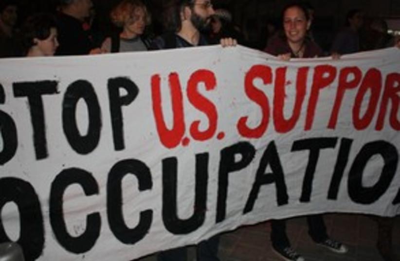 US embassy protest 311 (photo credit: Ben Hartman)
