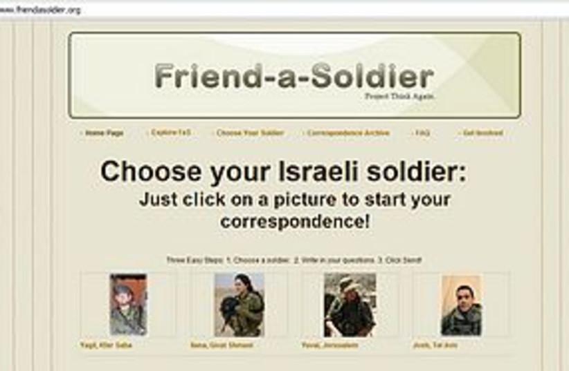 friend a soldier 311 (photo credit: Screenshot)