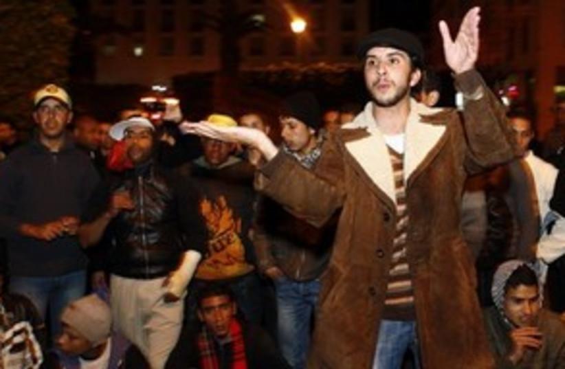 Morocco protests 311 (photo credit: AP Photo/Abdeljalil Bounhar)