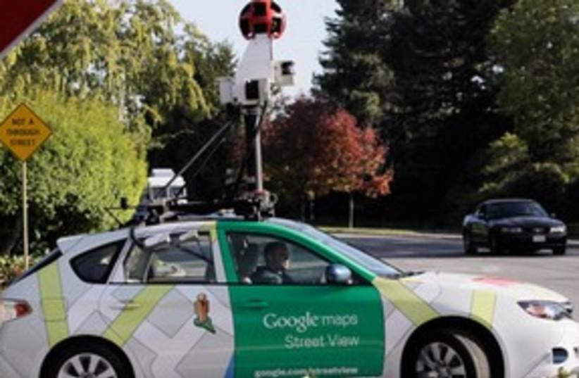 Google Street View car photographing 311 AP (photo credit: AP)