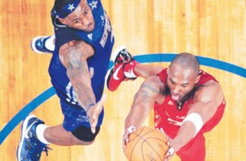 Kobe Lebron 311 (photo credit: Associated Press)
