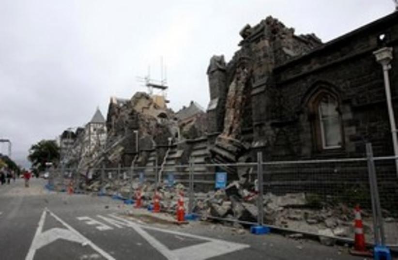 New Zealand earthquake 311 (photo credit: Associated Press)
