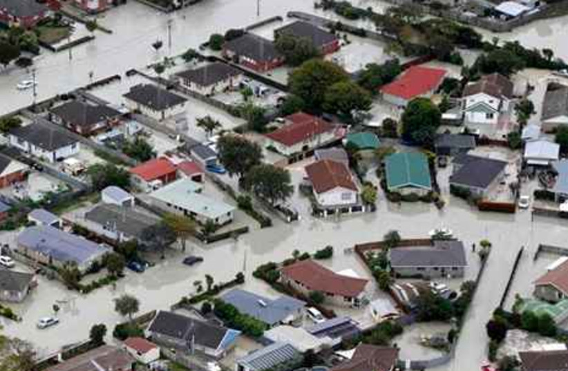 Suburb of Bexley is flooded following earthquake
