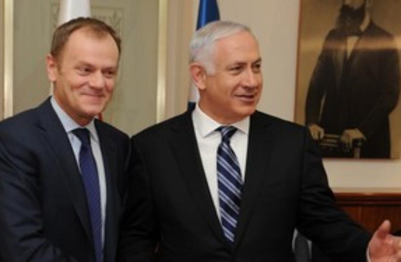 donald tusk and netanyahu_311 (photo credit: Moshe Milner / GPO)