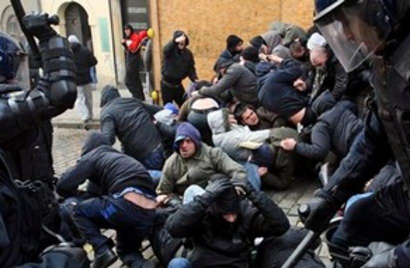 Croatia protests 311 (photo credit: AP)