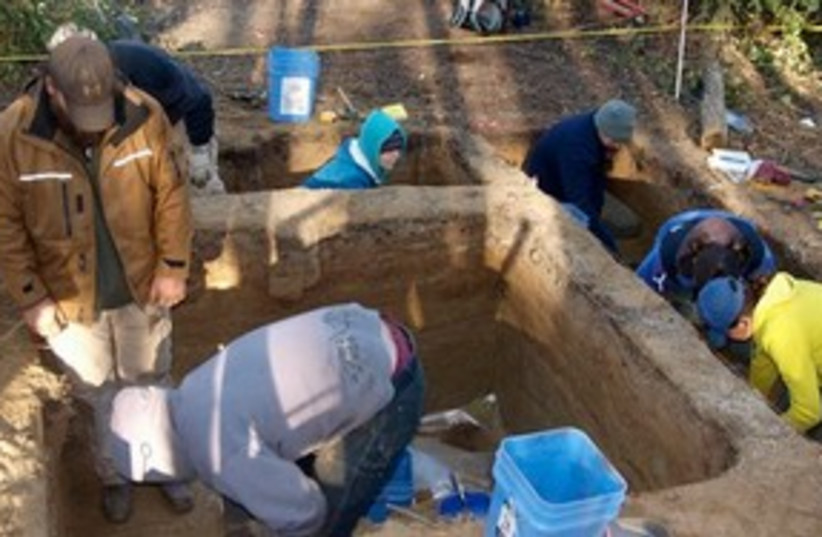 archaeological dig 311 (photo credit: AP Photo/Ben A. Potter, Science)