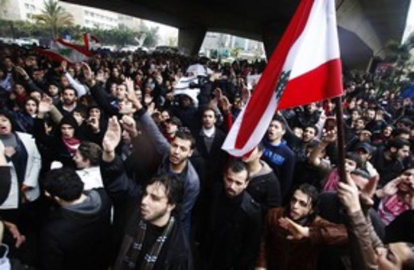Lebanon protests_311 Reuters (photo credit: REUTERS/STR New)