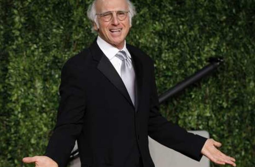 Comedian Larry David arrives at Oscar party