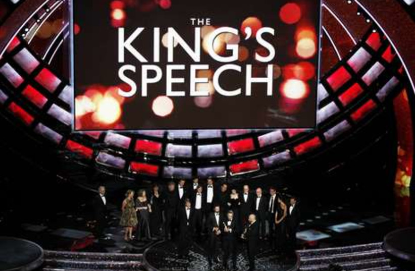 """Cast after """"The King's Speech"""" wins best picture"""
