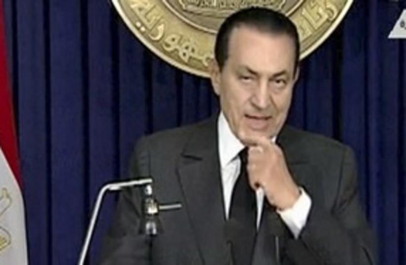 Former Egyptian president Hosni Mubarak 311 Reu (photo credit: Reuters TV / Reuters)