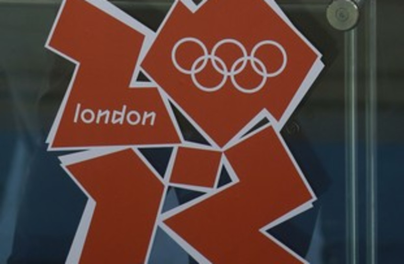 2012 London Olympics logo. (photo credit: Reuters)