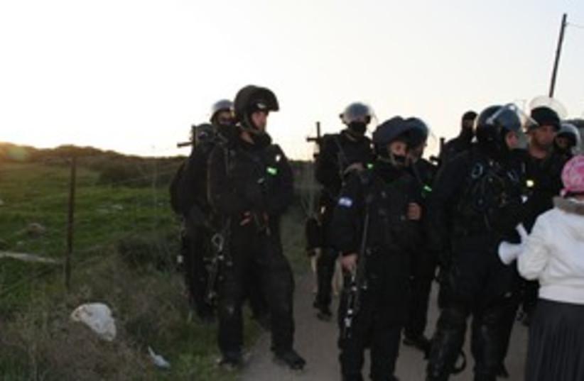 gilad farm demolition protest_311 (photo credit: Va'ad Mityashvei HaShomron)