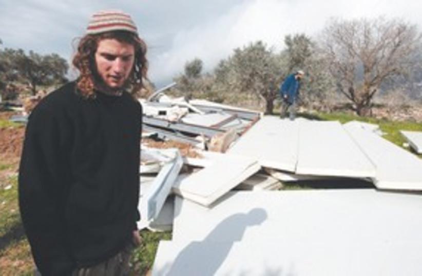 Gilad farm ruins (R) 311 (photo credit: Reuters)