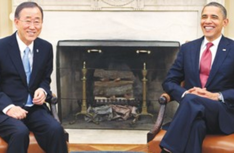 Obama and Ban (R) 311 (photo credit: Reuters)