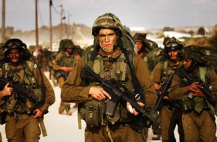 IDF soldiers marching  (R) 311 (photo credit: Reuters)