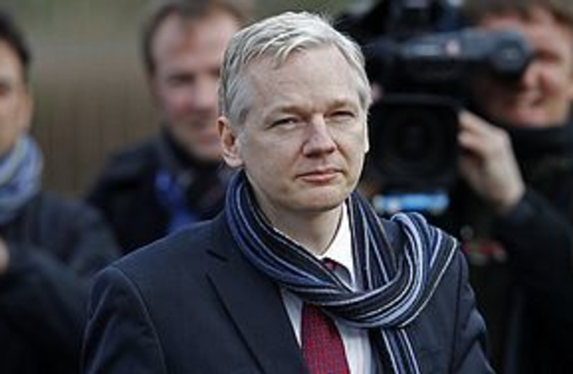 Julian Assange smug 311 REUTERS (photo credit: REUTERS)