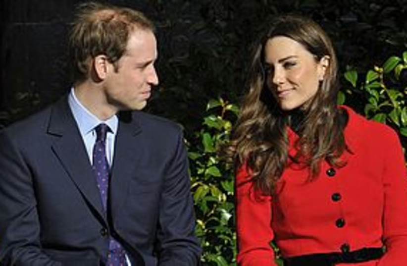 Britain's Prince William and Kate Middleton 311 REUTERS (photo credit: REUTERS)