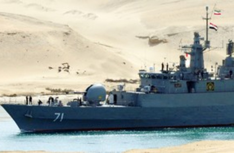 Iranian warships 311 Reuters (photo credit: REUTERS)