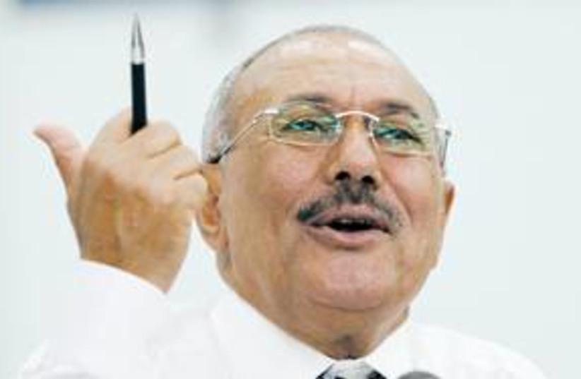 Yemeni President Ali Abdullah Saleh 311 Reu (photo credit: REUTERS)