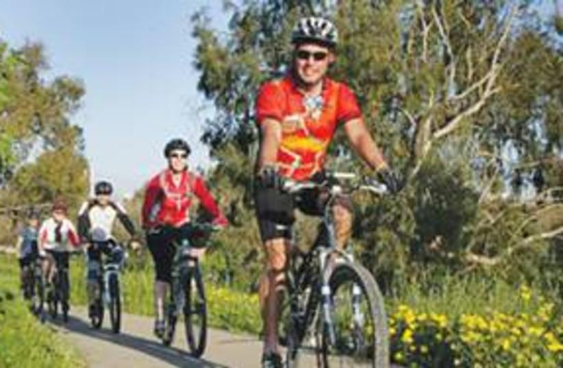 Bicycle rider helmet 311 (photo credit: JNF)