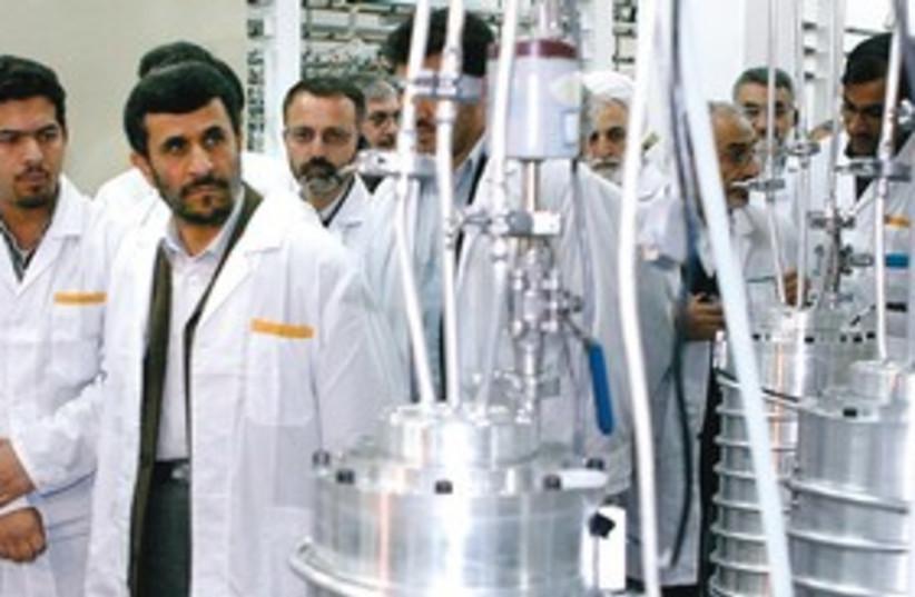 Mahmoud Ahmadinejad at nuclear plant (Reuters) 311 (photo credit: Reuters)