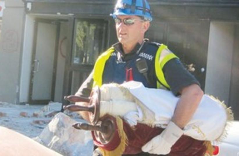 Christchurch Torah scrolls 311 (photo credit: J-Wire Jewish Australian and New Zealand News Serv)