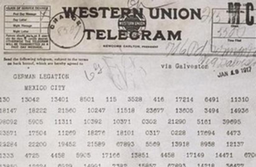 Zimmerman Telegram 311 (photo credit: US National Archives)