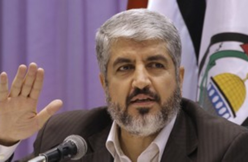 Hamas leader Khaled Mashaal 311 Reu (photo credit: Khaled Al Hariri / Reuters)