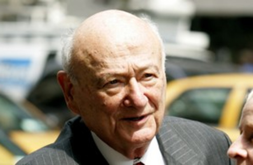 ed koch_311 reuters (photo credit: Jeff Zelevansky / Reuters)