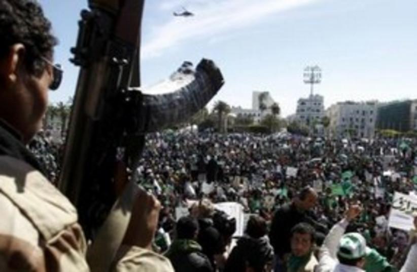 Libya protests 311 Reuters (photo credit: REUTERS/Chris Helgren)