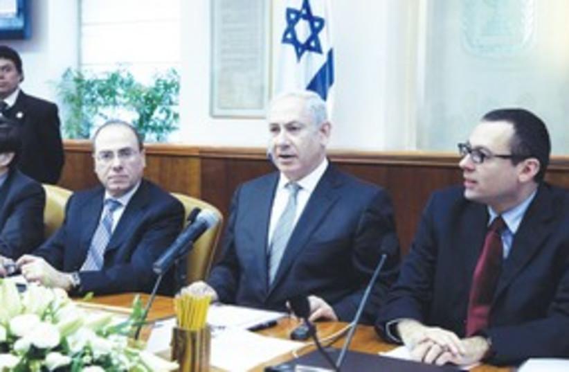 Prime Minister Binyamin Netanyahu at cabinet meeting 311 (photo credit: Marc Israel Sellem/The Jerusalem Post)