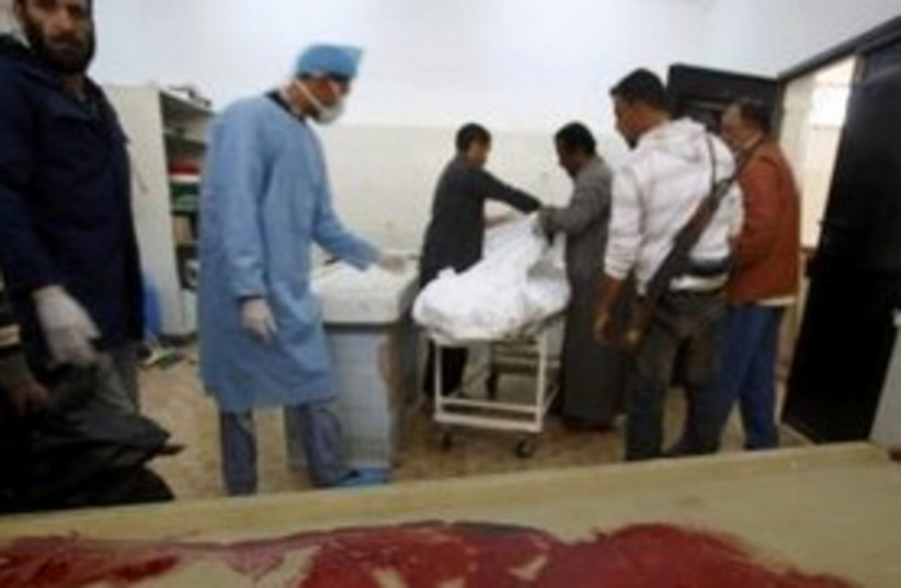 Libya death in hospital Reuters 311 (photo credit: REUTERS/ Suhaib Salem)