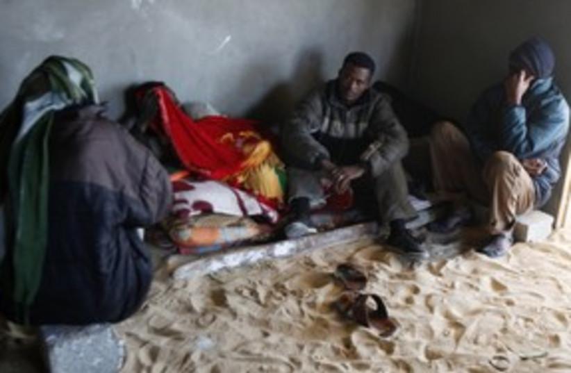 Eritrean migrants in Sinai 311 (R) (photo credit: Asmaa Waguih / Reuters)