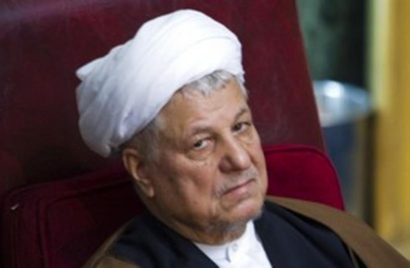 Former Iranian president Akbar Hashemi Rafsanjani 311  (photo credit: REUTERS)