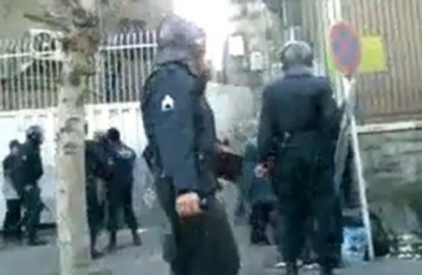 Iranian police in Tehran Women's Day protest 311 (photo credit: Courtesy)