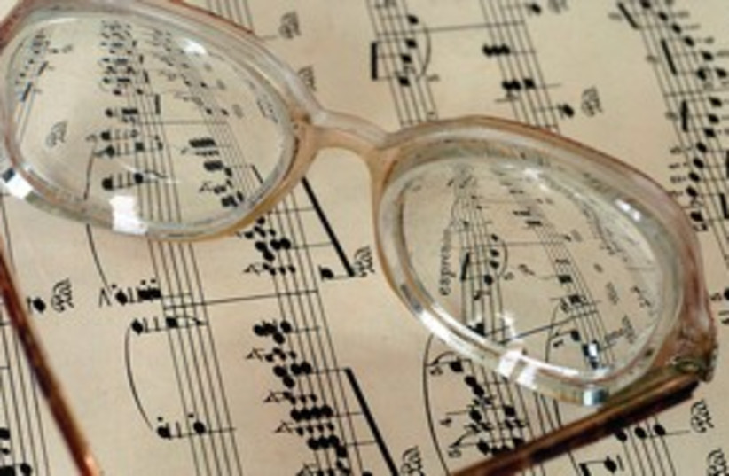 Glasses sheet music 311 (photo credit: MCT)